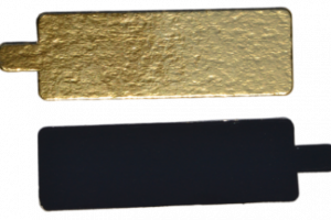 Pailgi aukso/juoda 9,5×5,5 cm, 200 vnt