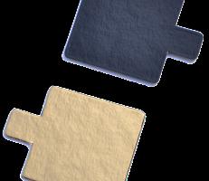 Kvadratiniai aukso/juoda 5×5 cm, 200 vnt