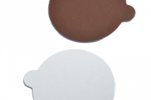 Apvalūs ruda/balta D10 cm, 200 vnt